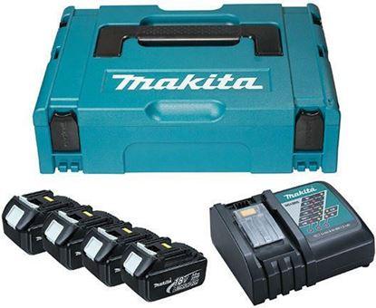 Слика на Сет литијум јонски акумулатори и полнач  Сет од четири батерии 18В/3Ах и полнач