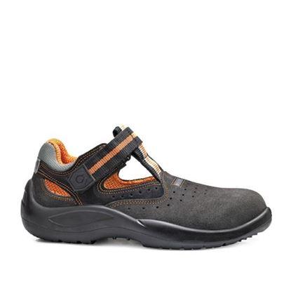 Picture of Ѕ1Р Заштитни обувки велур ниски темно кафени /44